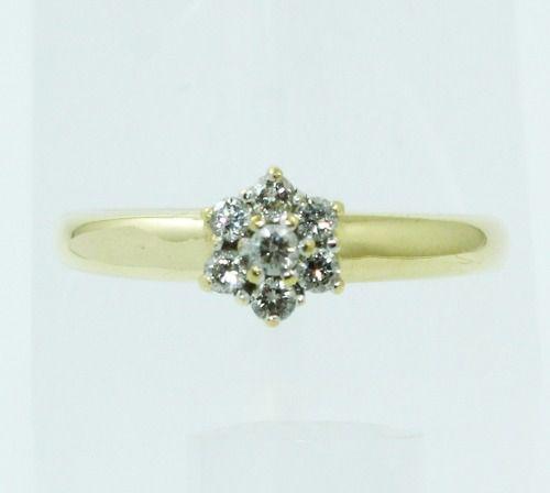 Anel De Ouro 18k750 Diamantes 357