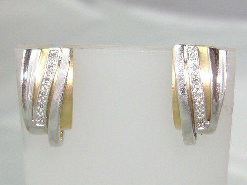Brincos De Ouro 18k750 Diamantes B202