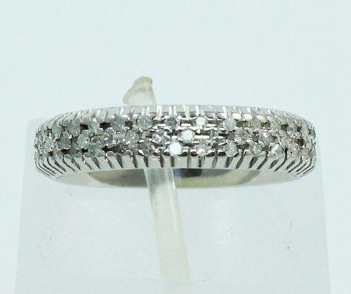 Anel De Ouro Branco 18k750 Diamantes 794