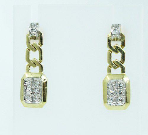 Brincos De Ouro 18k750 Diamantes B797
