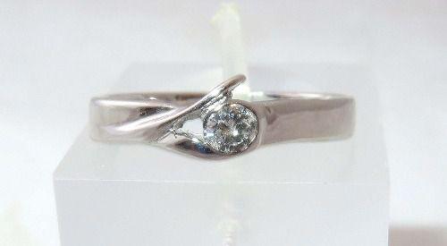Anel De Ouro Branco 18k 750 Diamante 315