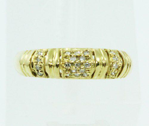 Anel De Ouro 18k750 Diamantes 118