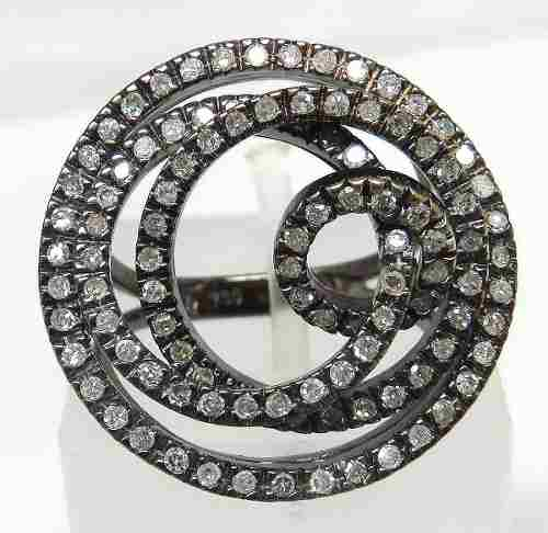 Anel Ouro Branco 18k750 Diamante Grife Vivara 716