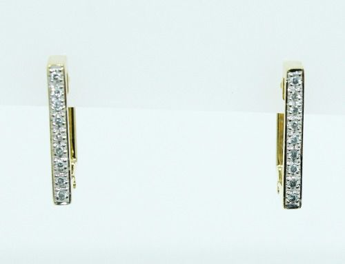 Brinco De Ouro 18k750 Diamantes B788