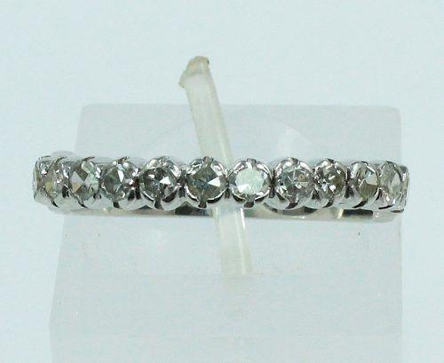 Anel De Ouro Branco 18k750 Diamantes 713