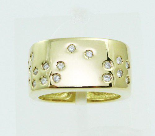 Anel De Ouro 18k750 Diamantes 548
