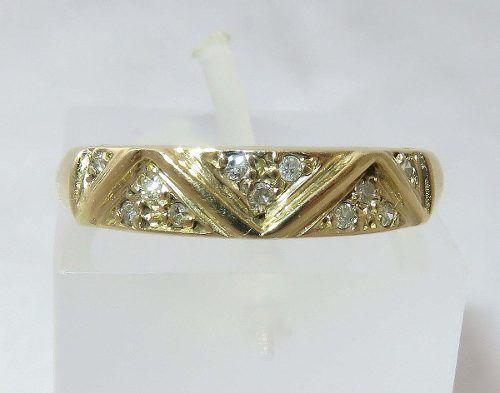 Anel De Ouro 18k750 Diamantes 124