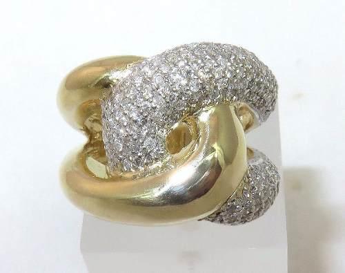Anel De Ouro 18k750 Diamantes 758