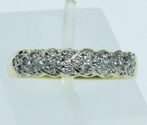 Anel De Ouro 18k750 Diamantes 219