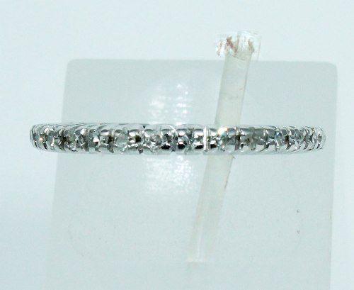 Anel Aliança Inteira De Ouro 18k Diamantes 860