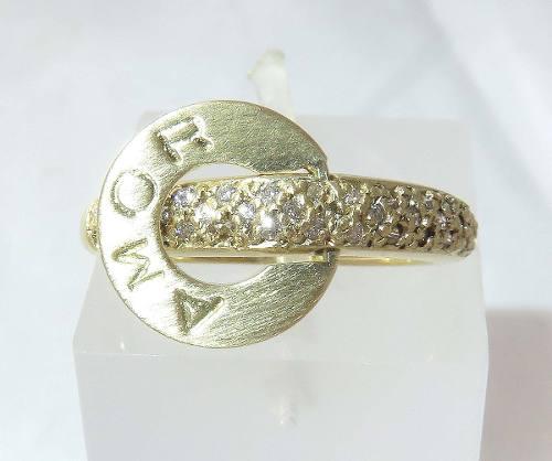 Anel De Ouro 18k750 Diamantes 451