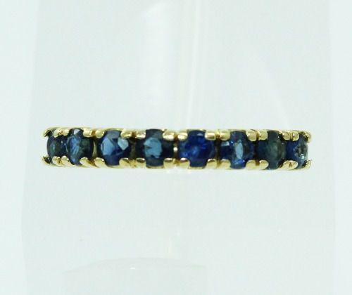 Anel De Ouro 18k750 Safira Azul 156