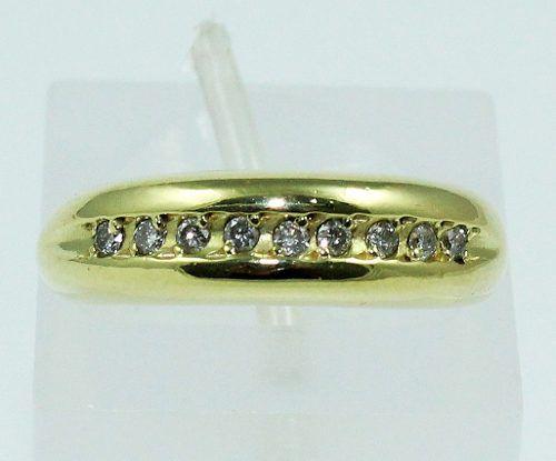 Anel De Ouro 18k750 Diamantes 510
