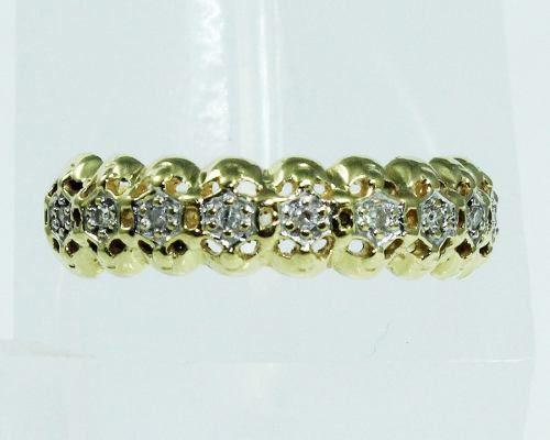 Anel De Ouro 18k750 Diamantes 277