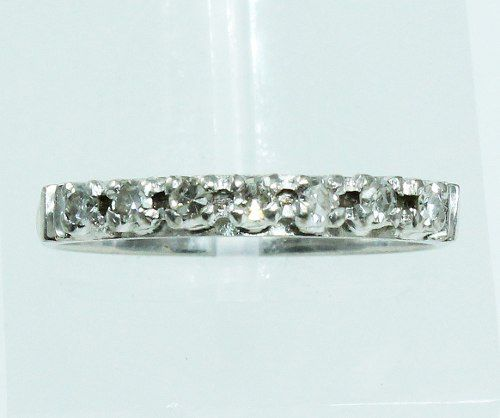 Anel De Ouro Branco 18k750 Diamantes 355