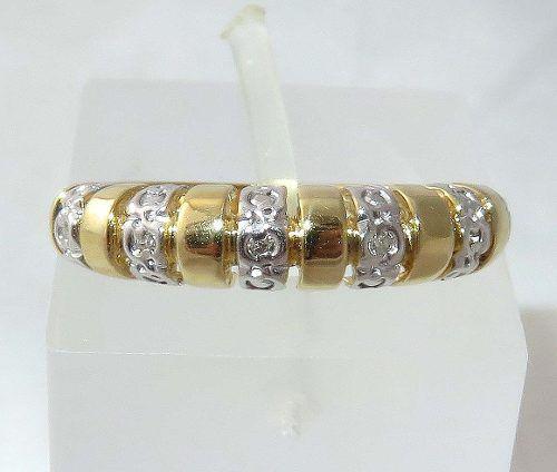 Anel Ouro 18k750 Diamantes! 59