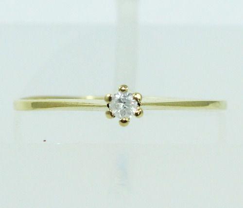 Anel De Ouro 18k750 Diamante 2159
