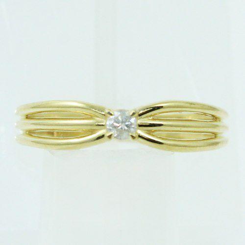 Anel De Ouro 18k750 Diamante 2499