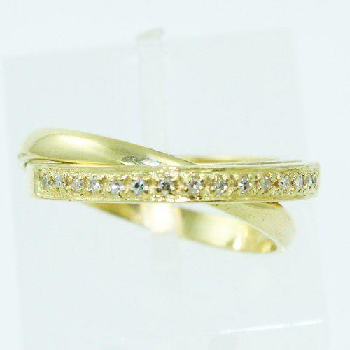 Anel De Ouro 18k750 Diamantes 2506