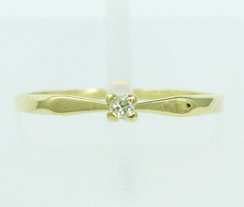 Anel De Ouro 18k750 Diamante 2158