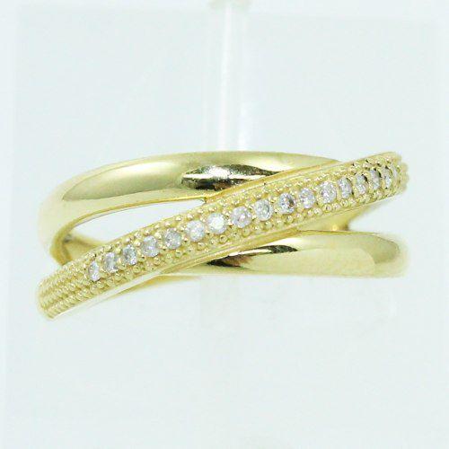 Anel De Ouro 18k750 Diamantes 2505