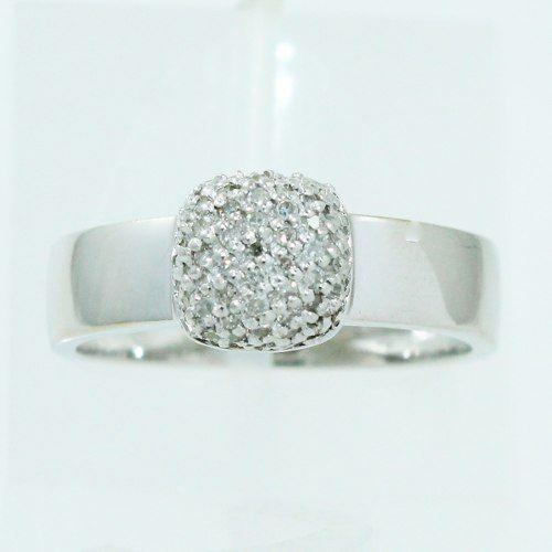Anel De Ouro Branco 18k750 Diamantes 2508