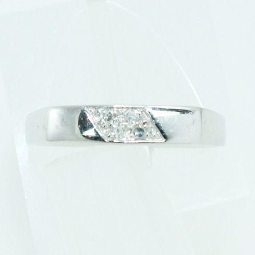 Anel De Ouro Branco 18k750 Hstern Diamantes 2507