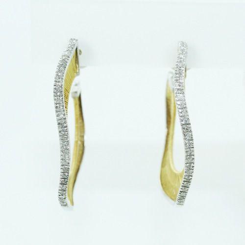 Brinco De Ouro 18k750 Diamantes Vivara B876