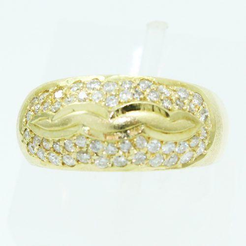 Anel De Ouro 18k750 Diamantes 2524