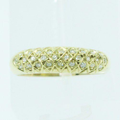 Anel De Ouro 18k750 Diamantes 2526