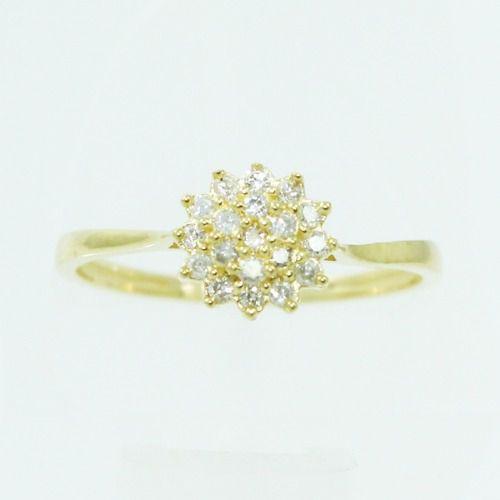 Anel De Ouro 18k750 Diamantes 2514