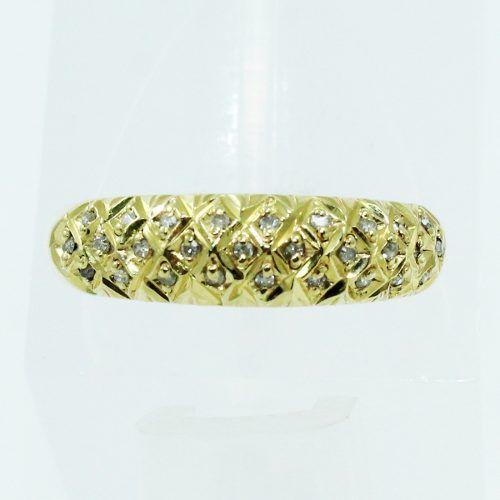 Anel De Ouro 18k750 Diamantes 2538