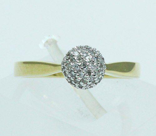 Anel De Ouro 18k750 Diamantes 1680