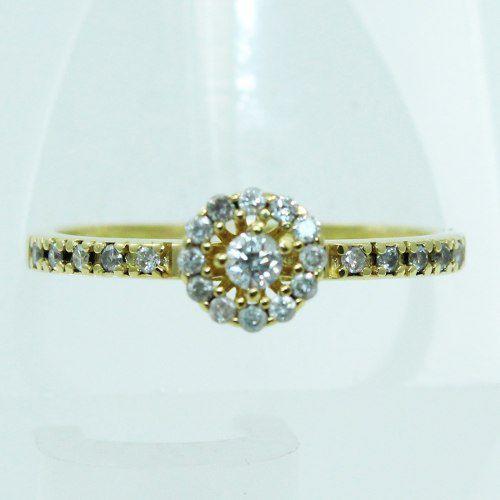 Anel De Ouro 18k750 Diamantes Vivara 2543