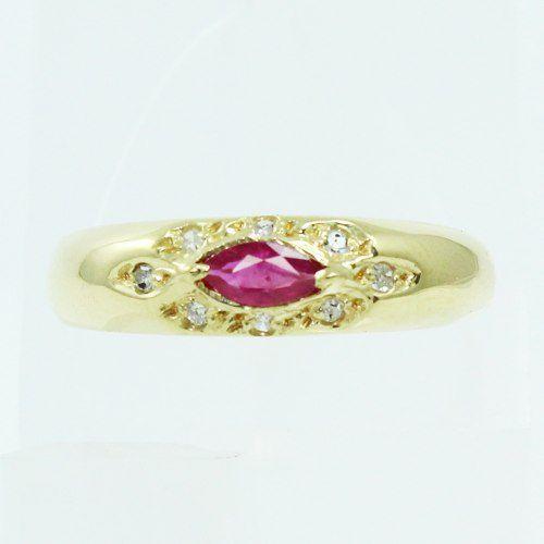 Anel De Ouro 18k750 Diamantes Rubi 2545