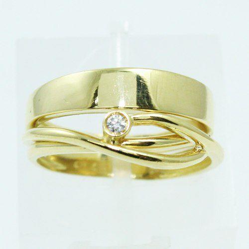 Anel De Ouro 18k750 Diamante 2548