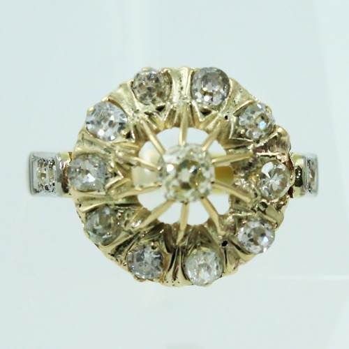 Anel De Ouro 18k750 Diamantes 2561