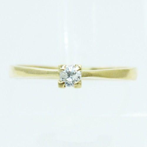 Anel De Ouro 18k750 Diamante Solitário 202