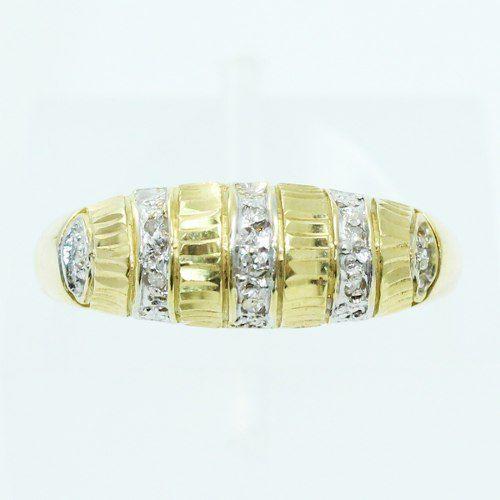 Anel De Ouro 18k750 Diamantes 101