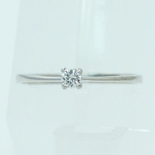 Anel De Ouro Branco 18k750 Diamante 2232