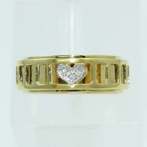 Anel De Ouro 18k750 Diamantes 365