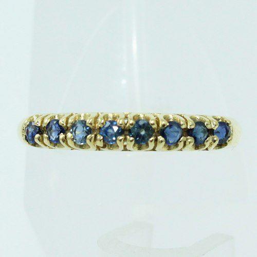 Anel De Ouro 18k750 Safira Azul 1464