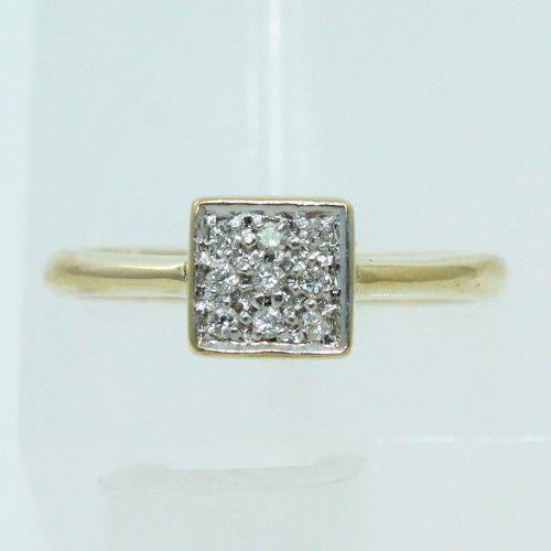 Anel De Ouro 18k750 Diamantes 1262