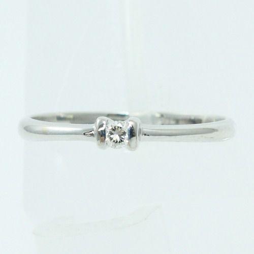 Anel De Ouro Branco 18k750 Diamante 2101