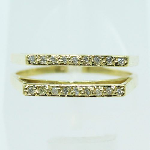 Anel De Ouro 18k750 Diamantes 2572