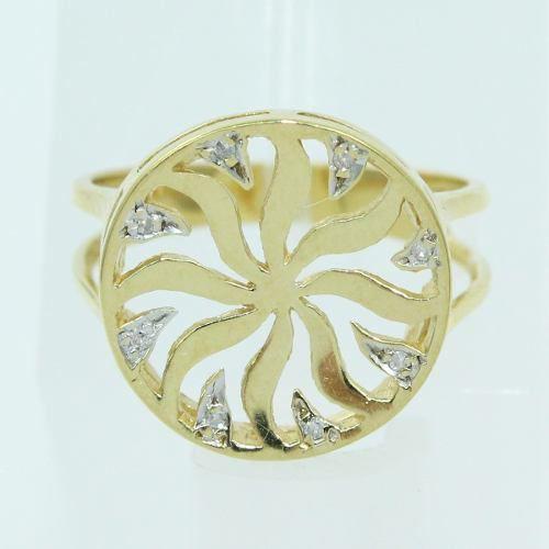 Anel De Ouro 18k750 Diamantes 2571