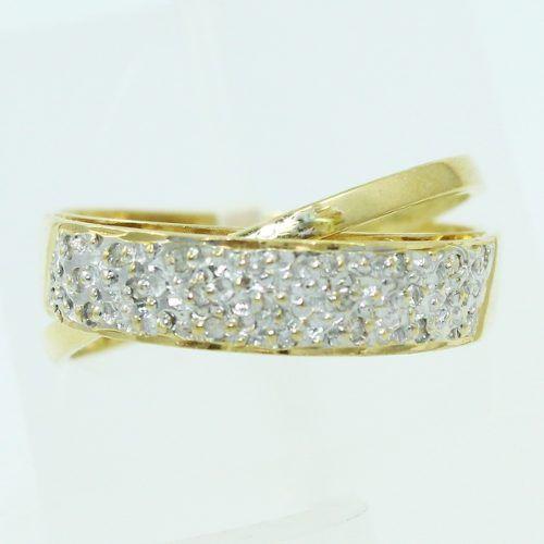 Anel De Ouro 18k750 Diamantes 2570