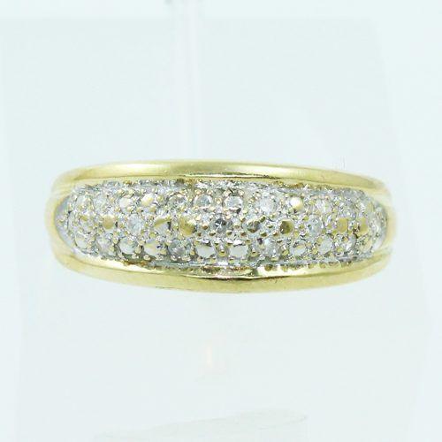 Anel De Ouro 18k750 Diamantes 2569