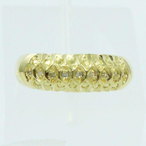 Anel De Ouro 18k750 Diamantes 2568
