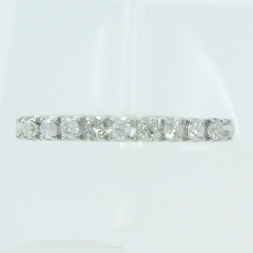 Anel De Ouro Branco 18k750 Diamantes 2556